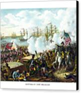 Battle Of New Orleans Canvas Print by War Is Hell Store