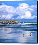 Beach At Isle Of Palms Canvas Print by Dominic Piperata