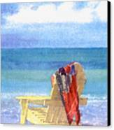 Beach Chair Canvas Print by Shawn McLoughlin