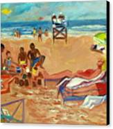 Beach In August Canvas Print by Betty Pieper