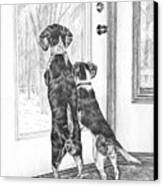 Beagle-eyed - Beagle Dog Art Print Canvas Print by Kelli Swan