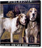 Bear Dogs Canvas Print by H R Poore