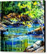 Bear Paw Stream Canvas Print by Hanne Lore Koehler