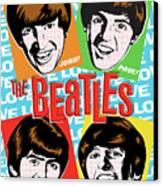 Beatles Pop Art Canvas Print by Jim Zahniser