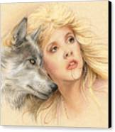 Beauty And The Beast Canvas Print by Johanna Pieterman