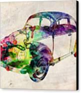 Beetle Urban Art Canvas Print by Michael Tompsett