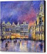 Belgium Brussel Grand Place Grote Markt Canvas Print by Yuriy  Shevchuk