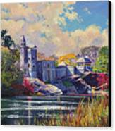 Belvedere Castle Central Park Canvas Print by David Lloyd Glover