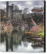 Belvedere Castle Vertical Canvas Print by Ariane Moshayedi