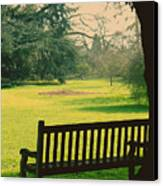 Bench Under A Tree Canvas Print by Jasna Buncic