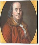 Benjamin Franklin Canvas Print by Jean Valade