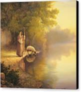 Beside Still Waters Canvas Print by Greg Olsen
