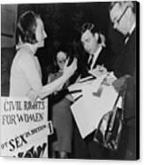 Betty Friedan, President Canvas Print by Everett