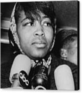 Betty Shabazz 1934-1997, Wife Canvas Print by Everett