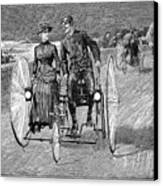 Bicycling, 1886 Canvas Print by Granger