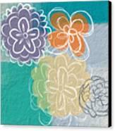 Big Flowers Canvas Print by Linda Woods