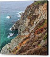Big Sur Colorful Sea Cliffs Canvas Print by Pierre Leclerc Photography