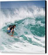 Big Wave Surfer At La Perouse Bay Maui Canvas Print by Denis Dore