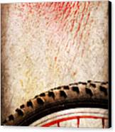 Bike Wheel Red Spray Canvas Print by Silvia Ganora