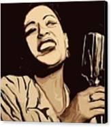 Billie Holiday Canvas Print by Jeff DOttavio