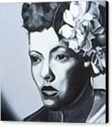 Billie Holiday Canvas Print by Kaaria Mucherera