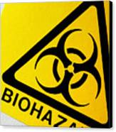 Biohazard Symbol Canvas Print by Tim Vernon, Nhs Trust