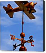 Biplane Weather Vane Canvas Print by Garry Gay