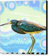 Bird Contemplates The Cosmos Canvas Print by Wendy J St Christopher