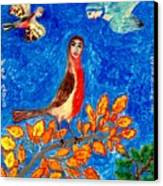 Bird People Robin Canvas Print by Sushila Burgess