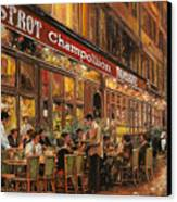 Bistrot Champollion Canvas Print by Guido Borelli