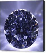 Black Diamond Shine Aura. Canvas Print by Atiketta Sangasaeng