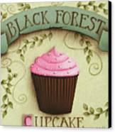 Black Forest Cupcake Canvas Print by Catherine Holman