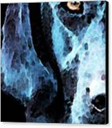 Black Labrador Retriever Dog Art - Hunter Canvas Print by Sharon Cummings