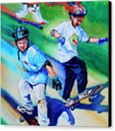 Blasting Boarders Canvas Print by Hanne Lore Koehler
