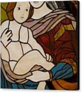 Blessed Art Thou Among Women-mary Canvas Print by David Gomm