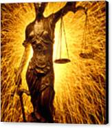 Blind Justice  Canvas Print by Garry Gay