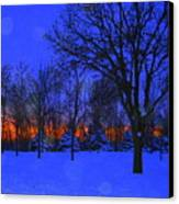 Blizzard Blues 2 Canvas Print by Julie Lueders