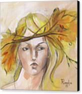 Blonde Autumn Forward Canvas Print by Jacque Hudson