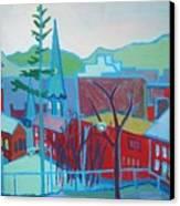 Blue Burlington Canvas Print by Debra Robinson