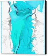 Blue Dancer Canvas Print by Mary Morawska