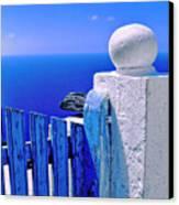 Blue Gate Canvas Print by Silvia Ganora