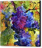 Blue Grapes Canvas Print by Ginette Callaway