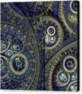 Blue Machine Canvas Print by Martin Capek