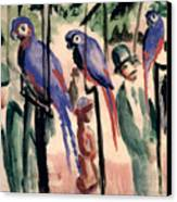Blue Parrots Canvas Print by August Macke