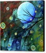 Blue Sapphire 1 By Madart Canvas Print by Megan Duncanson