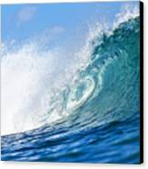 Blue Tube Wave Canvas Print by Paul Topp