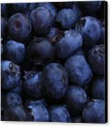 Blueberries Close-up - Vertical Canvas Print by Carol Groenen