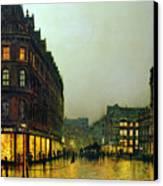 Boar Lane Canvas Print by John Atkinson Grimshaw