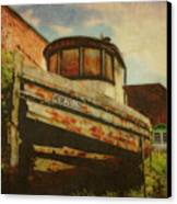 Boat At Apalachicola Canvas Print by Toni Hopper
