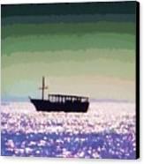 Boating Home Canvas Print by Deborah MacQuarrie